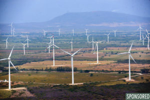 Wind farms on the Isthmus of Tehuantepec in Oaxaca state. (Photo from Wikipedia)