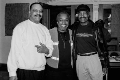 Founding members of the MLK Day committee Eddie Rye, Lacy Steele and former Seattle Central Community College President Charles Mitchell. (Photo by Susan Fried)