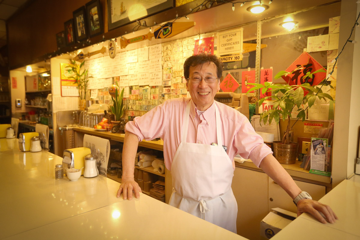 Harry Chan, third generation owner of Tai Tung restaurant, the oldest running Chinese restaurant in Chinatown-International District).