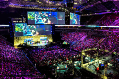 "The International 2014, the fourth annual eSports ""Dota 2"" championship tournament hosted by Valve Corporation at KeyArena. (Photo by Dota 2 The International via Flickr)"