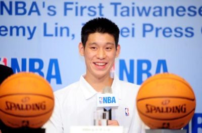 Jeremy Lin, the first Taiwanese American player in NBA history, sits at a press conference in Taiwan in 2010. Lin is now in his ninth season and is currently playing with the Toronto Raptors, but is still one of just three Asian Americans. Photo Credit: Warren Lu
